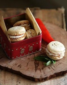 Savoury Quark Macarons  by passionate about baking