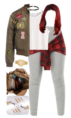 """""""9.26.16"""" by mcmlxxi ❤ liked on Polyvore featuring Sans Souci, adidas and Michael Kors"""