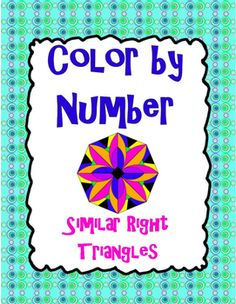 In this activity, students will practice finding the lengths of missing sides of similar right triangles as they have fun coloring!  Students will color their answers on the picture with the indicated color in order to reveal a beautiful, colorful pattern!