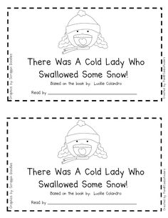 Emergent Reader for There Was a Cold Lady Who Swallowed Some Snow