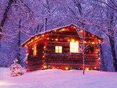 Cabin Lights #christmas
