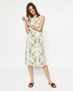 FLORAL DRESS WITH BACK KNOT-View All-DRESSES-WOMAN-SALE | ZARA United States