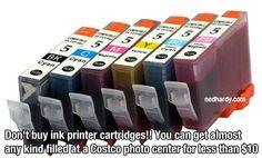 life hacks - get cheap ink printer cartridge refills at Costco