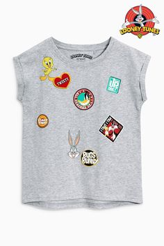 Buy Grey Looney Tunes™ Short Sleeve T-Shirt (3-16yrs) from the Next UK online shop