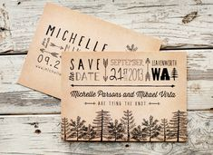 Rustic Save the Date Card Tree Save the Date by starboardpress, $2.90
