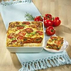 Tomaten-Lasagne mit Sojabolognese