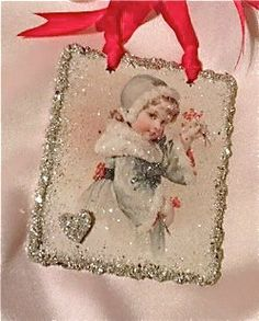 Charming Victorian Valentine Card Silver by RibbonAndBeadworks