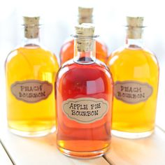 Apple Pie & Peach Infused Bourbons...fruity, infused bourbons for the whiskey lover in your life