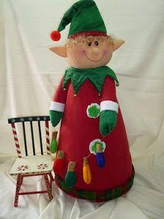 EL TALLER DE ROSA Christmas Sewing, Christmas Fabric, Christmas Elf, Christmas 2016, Family Christmas, Christmas Humor, Christmas Crafts, Christmas Decorations, Xmas
