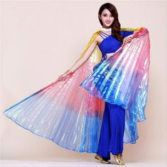 Multicolor Angle Wings Belly Dance Costume For Women Isis Colorful Wings Indian Performances Props Bellydance Wings (no stick)