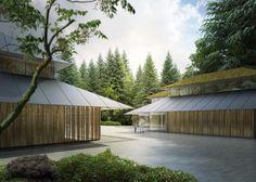 Kengo Kuma Designs Cultural Village for Portland Japanese Garden,Shuttle Stop from Kingston Avenue. Image © Kengo Kuma & Associates