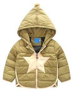 """Zago Little Boys Casual Long Sleeve Star Hoodies Down Coat Jacket army green 2T. For Asia SIZE Information, please See Below """"description"""" Section!. Free Shipping by USPS with Tracking Number, Arrival Takes 12-20 Days!. Support USA Local Return address!. 100% Buyer Satisfaction Guaranteed!. Become Our Member to Enjoy Free Gift on Your Birthday!."""