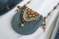 Your place to buy and sell all things handmade - Bead pouch,Amulet necklace pou. - Your place to buy and sell all things handmade – Bead pouch,Amulet necklace pouch,Talisman pouch - Textile Jewelry, Fabric Jewelry, Boho Jewelry, Jewelry Necklaces, Fashion Jewelry, Jewellery Box, Jewellery Shops, Mirror Jewellery, Pearl Necklaces