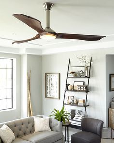 "The Minimalist Max Collection: Building on the enthusiasm for the Minimalist ceiling fan, an even larger 72"" version is now available, now damp rated and featuring a powerful DC motor. With the same clean, modern aesthetic and three dramatic Hand Carved Balsa Wood Blades, the Minimalist Max fan by Monte Carlo features an integrated 16W LED downlight encased in Opal Etched Glass, with 960 net lumens of output, 3000°K CCT and a CRI of 80+. A hand-held remote with six speeds, reverse and LED…"