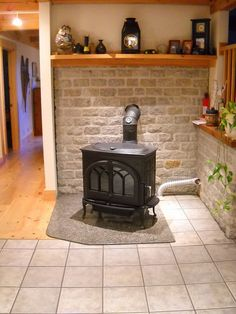 Wood Stove With Stove Thermometer By FireplaceVillage, Via Flickr