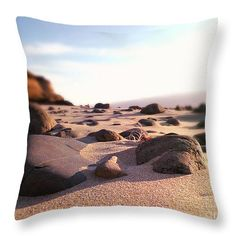 Coastal Terrain Throw Pillow by Micki Findlay - TheSingingPhotographer.com - various sizes, home decor, cushion, oregon, coast, beach decor, sand