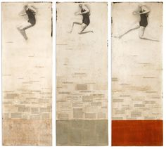 Jane Hambleton: air, water, body- 2008, Acrylic, oils, pages and graphite on paper