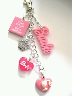 Barbie keychain alil fashion for my key rings Pink Love, Cute Pink, Pretty In Pink, Barbie Life, Barbie World, Accessoires Barbie, Girly Car, Barbie Party, Juicy Couture