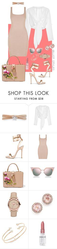 """Brunch date."" by smackthatash ❤ liked on Polyvore featuring Fallon, Lisa Marie Fernandez, Dolce&Gabbana, Fendi, Burberry, Dana Rebecca Designs, Nadri and Rodin"