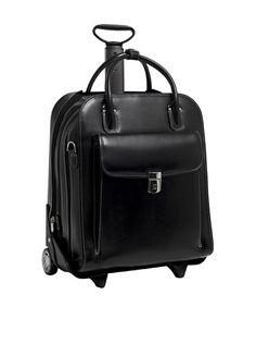 756f1935d3 McKleinUSA Women s La Grange Leather Vertical Detachable-Wheeled Briefcase