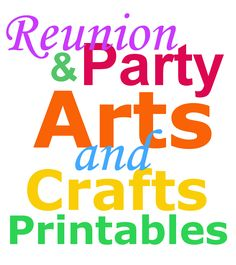 Reunion Arts and Crafts Printables Page | Family Reunion Planning