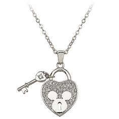Mickey Mouse Heart Necklace by Arribas | MUST HAVE THIS!!!  :)