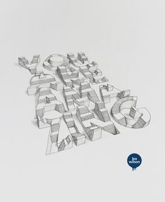 3D Typography © Lex Wilson in Typography
