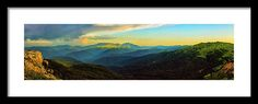 Mountains Framed Print featuring the photograph The Storm Was Gone, Sunset Comes 2. by Dmitry Bodyaev