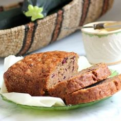 Have more zucchini than you know what to do with?  Make Zucchini Bread with Dried Cranberries and Walnuts. #foodgawker