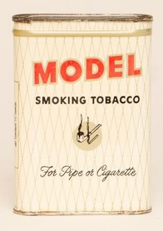 """Rare Model Tobacco White Vertical Pocket Tin in excellent condition with clean surface and gloss. Size: 4.5"""" x 3"""" x 1"""""""