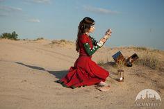 """Fantasy-Kleid """"Tochter des Alchimisten"""" aus Leinen"""