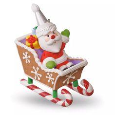 Santa's Sweet Ride Sleigh Ornament