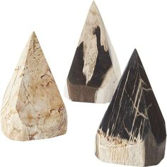 Shop petrified wood pyramid.   From tropical Indonesia, we bring you a fossilized wonder of nature.  Rich with color and pattern, pieces of petrified wood are carved into pyramid shapes then hand polished.