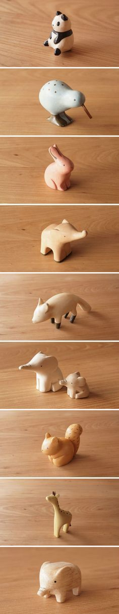 Love the Elephant! and Panda :) Learn more about wood whittling plus find inspiration for your next wood carving project.