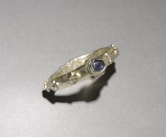 Ring, 1300s, England, 14th Century. Gilded silver, sapphire. Diameter- h:2.90 cm (h:1 1/8 inches). Purchase from the J.H. Wade Fund 1950.383.