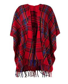 Red (Red) Red Tartan Check Blanket Wrap | 327401260 | New Look