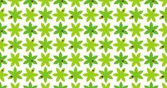 green leaf & ladybug pattern