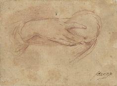 Peter Paul Rubens | Hand aan een borst, Peter Paul Rubens, 1705 - 1721 |