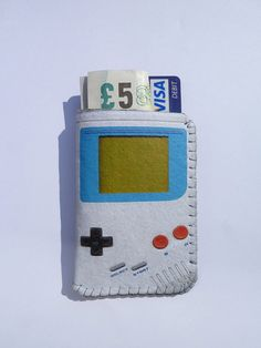 Business Card Holder Retro Portable Game Console  by CrankCases, $13.00
