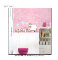 Lamb Rabbit Nursery Decor Wall Decal Sticker Vinyl | eBay