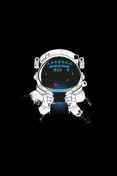 fe4c12b0 Astronauts In Space, Space Invaders, Cosmos, Video Game Art, Sci Fi Art