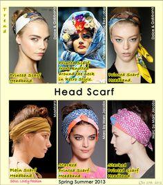 Head #Scarf Trend forSpring Summer 2013.  Dolce & Gabbana,Vivienne Westwood,  MaxMara,&Marc by Marc Jacobs Spring Summer 2013. #fashion  #trends