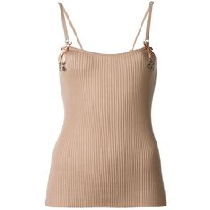 Christian Dior Vintage Ribbed Cami Top ($328) ❤ liked on Polyvore featuring tops, tanks, ribbed tank top, pink tank top, cami tank, rib tank and cami tank tops