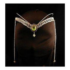 Medieval Renaissance circlet tiara ARWEN fantasy ELVEN ($47) via Polyvore featuring crowns, medieval, jewelry, tiara, accessories, circle, circular and round