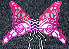 Bright Pink and Lavender Butterfly Wings  Price $14.99 Butterfly Gifts, Fairy Wings, Bright Pink, Lavender, Fashion, Moda, Fashion Styles, Fashion Illustrations