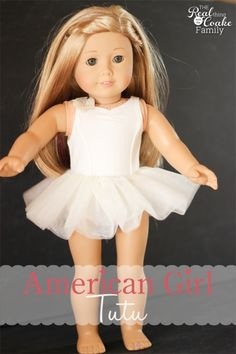 American Girl Doll Clothes sewing Pattern to make a tutu for your doll. Perfect for the my American Girl Doll fan!