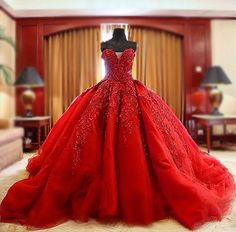 Luxury Ball Gown Wedding Dresses,Beaded Wedding Dresses,Red Wedding Dress,Embroidery Wedding Dress,Top Quality Wedding Dresses