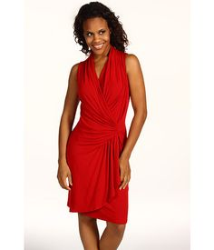 Karen Kane Heavy Jersey Sleeveless Wrap Dress - Like how flattering the front is