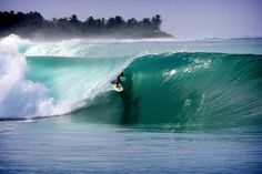 Getting shacked at perfect Macaronis in the Mentawais. #surf #travel