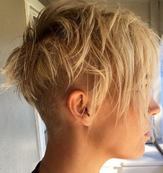 Messy Pixie-for when he leaves me; im growing my hair long for him, so cutting it super-short will be my gesture that im finally breaking free....